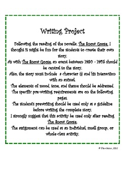 The Snow Goose: A Writing Activity