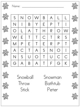 The Snowy Day:  Math and Literacy Activities for the Kinde