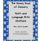 The Snowy Days of January Math and Language Arts Station A
