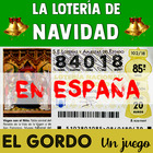 The Spanish Christmas Lottery Game - El Gordo - for Beginn