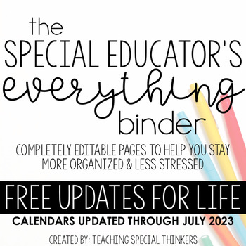 The Special Educator's Everything Binder