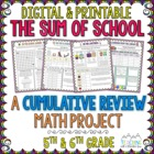 The Sum of School: A Cumulative Math Test Prep Project 5th