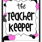 The Teacher Keeper {Organizational Binder in Pink &amp; Black 