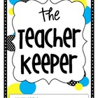 The Teacher Keeper {Organizational Binder in Yellow & Blue}