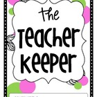 The Teacher Keeper {Organizational Binder in Zebra, Pink,