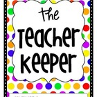 The Teacher Keeper {Organizational Binder with Bright Polka Dots}