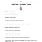 &quot;The Tell-Tale Heart&quot; by Edgar Allan Poe Quiz