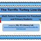 The Terrific Turkey Line-Up--Math Patterning
