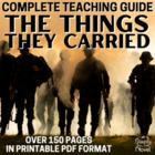 The Things They Carried Common Core Aligned Literature Guide