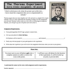 The Thoreau Experiment