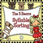 The Three Bears Picture/Word Syllable Sorting