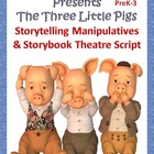 The Three Little Pigs Storyboard Manipulatives & Reader's
