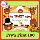 The Turkey Game: High Frequency Words (Fry's 1st 100)