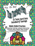 The Turkey Pen Bundled 4 Savings - THREE Math Task Card Sets