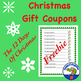 The Twelve Days of Christmas Gift Coupon Sheet