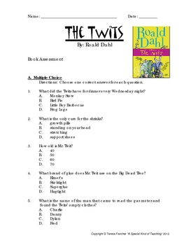 The Twits, by: Roald Dahl- Book Assessment