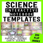 Science Interactive Notebook Templates - {194 Foldable Fli
