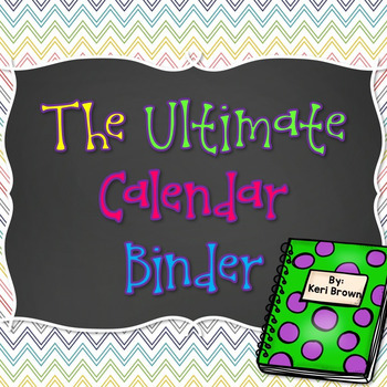 The Ultimate Calendar Journal Packet