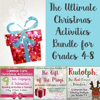 The Ultimate Christmas Bundle for Common Core Reading Grades 4-8 ~ NO PREP!
