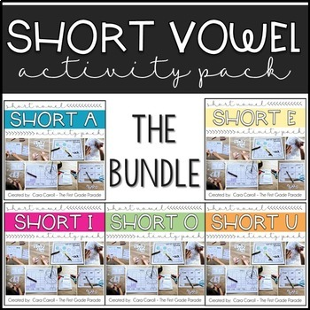 The Ultimate Short Vowel Bundle - Printables, Puzzles, Activities, & MORE!