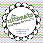 The Ultimate Sticky Note Bundle {100+ templates for your c