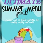 The Ultimate Summer Menu Pack: Menus for Reading, Writing,