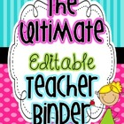 The Ultimate Teacher Binder