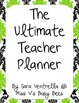 The Ultimate Teacher Planner in Black & Lime Damask