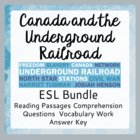 The Underground Railroad (Bundled Set of ESL Activities)