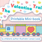 The Valentine Train mini-book printable