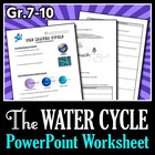 The Water Cycle - PowerPoint Worksheet