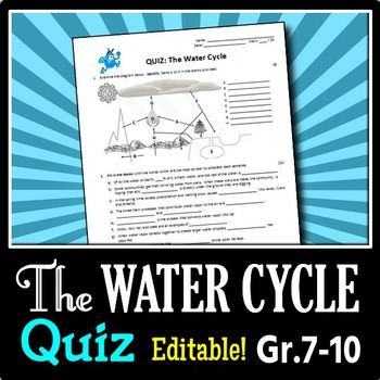 The Water Cycle - Quiz
