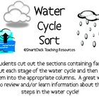 The Water Cycle Sort Packet