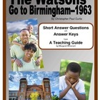 The Watsons Go to Birmingham--1963--Short Answer Questions