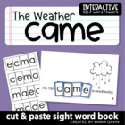 "Interactive Sight Word Reader ""The Weather Came"""