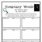 """The Westing Game"", by E. Raskin, Vocabulary Words Packet"