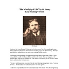 The Whirligig of Life - O. Henry - Easy Reading Version