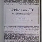 The Witch of Blackbird Pond Literature Guide and Plans on CD