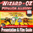 The Wizard of Oz Film Viewing Guide &amp; Power Point (U.S. History)