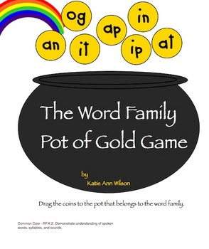 The Word Family Pot of Gold Game