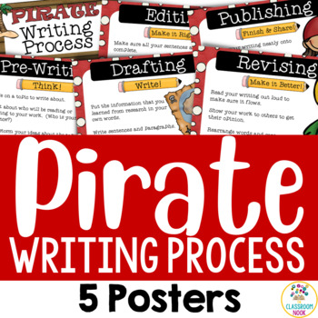 The Writing Process (5 Posters) - Pirate Theme