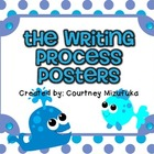 The Writing Process Posters-Ocean Themed