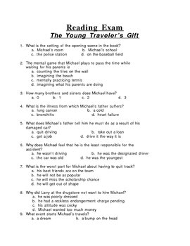 The Young Traveler's Gift 50 Question Multiple Choice Exam