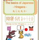 The basics of Japanese -Hiragana- a,i,u,e,o