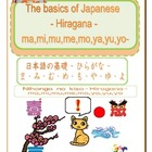 The basics of Japanese -Hiragana- ma,mi,mu,me,mo,ya,yu,yo