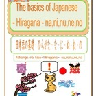 The basics of Japanese -Hiragana- na,ni,nu,ne,no