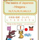 The basics of Japanese -Hiragana- ra,ri,ru,re,ro,wa,o,n