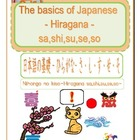 The basics of Japanese -Hiragana- sa,shi,su,se,so