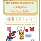 The basics of Japanese -Hiragana- ta,chi,tsu,te,to