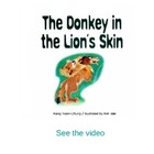 The donkey in the lion&#039;s skin storybook